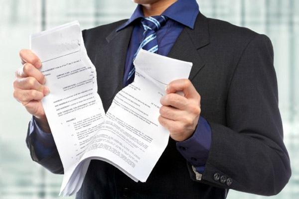 Односторонний отказ от исполнения договора строительного подряда