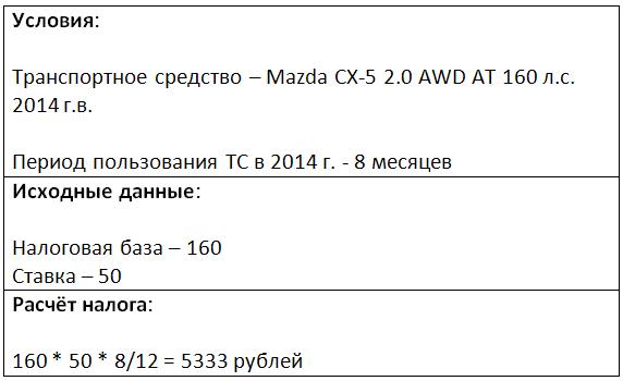 транспортный налог в Республике Татарстан без использования коэффициента